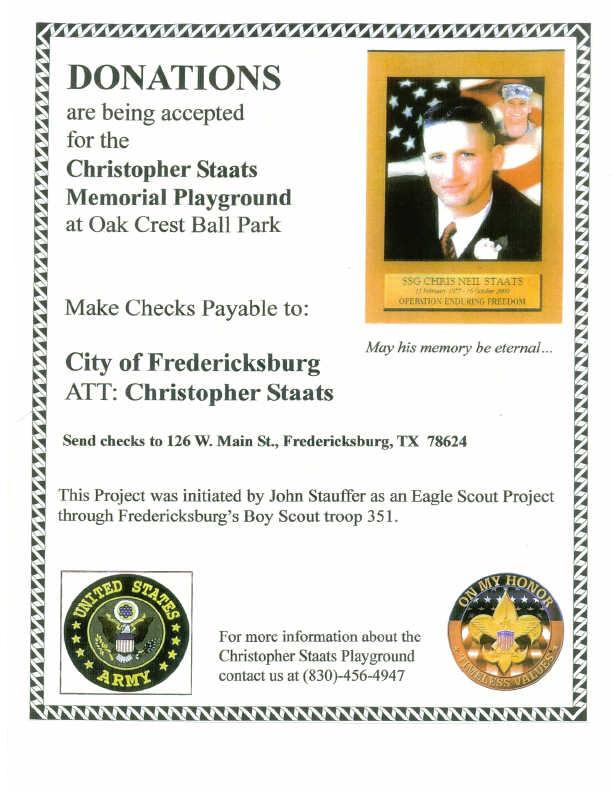 Christopher Staats Memorial Playground